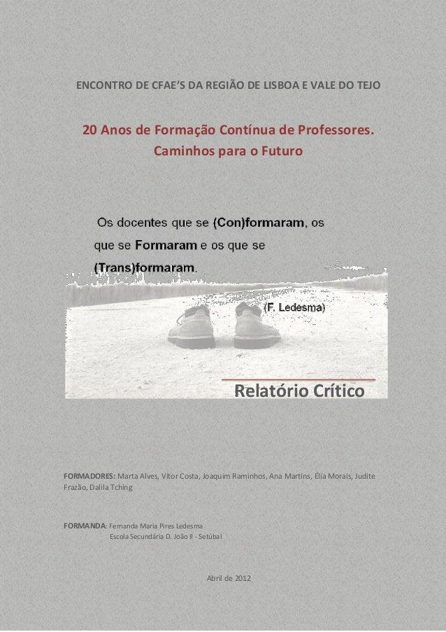20 Anos de Formação Contínua de Professores.