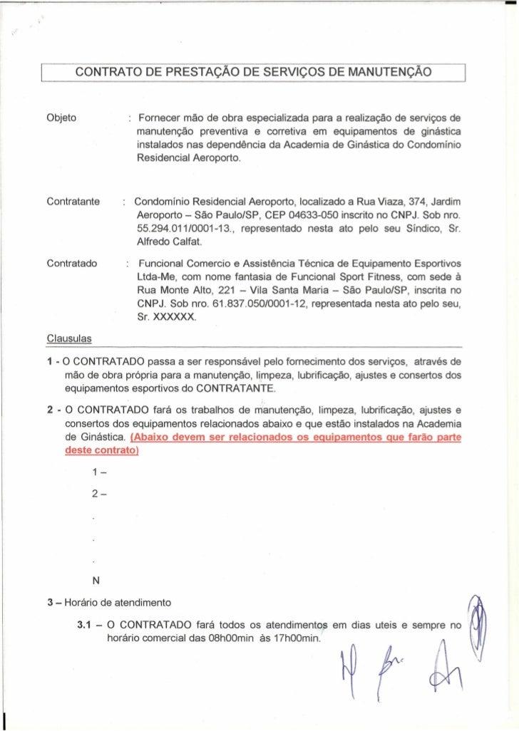-         CONTRATO DE PRESTAÇÃO DE SERViÇOS DE MANUTENÇÃOObjeto               Fornecer mão de obra especializada para a re...