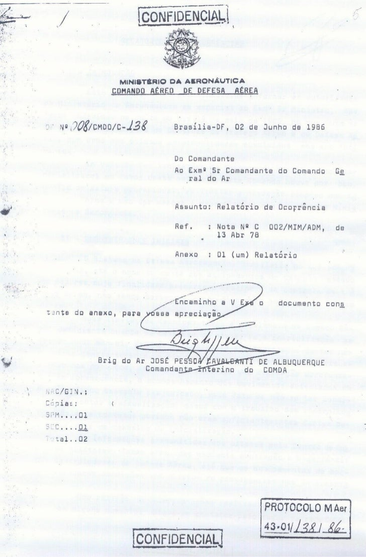 Relatório Noite Oficial dos UFOs - Ministério da Aeronáutica