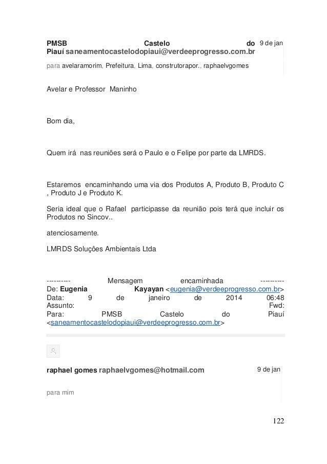 122  PMSB Castelo do Piauí saneamentocastelodopiaui@verdeeprogresso.com.br  9 de jan  para avelaramorim, Prefeitura, Lima,...