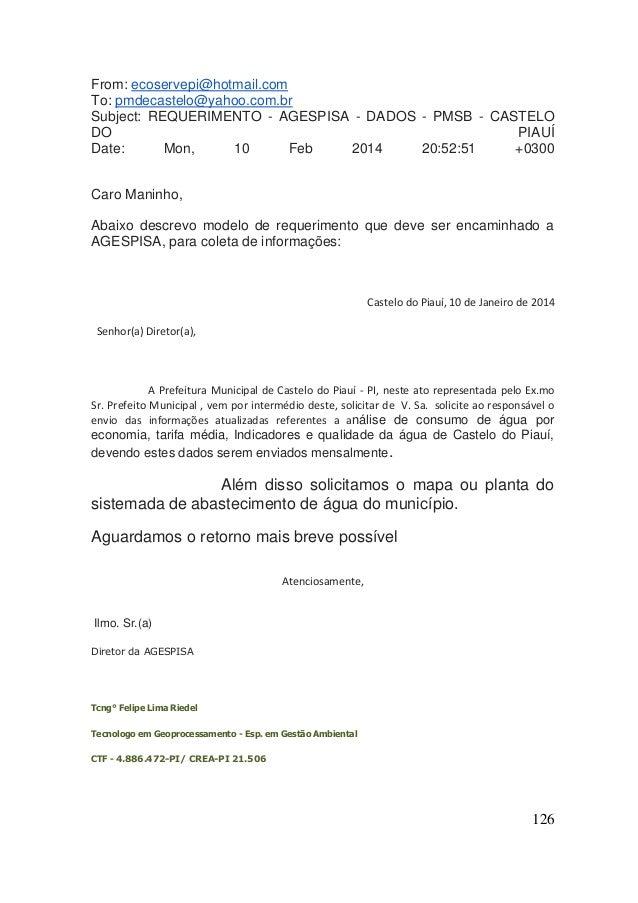 126  From: ecoservepi@hotmail.com To: pmdecastelo@yahoo.com.br Subject: REQUERIMENTO - AGESPISA - DADOS - PMSB - CASTELO D...