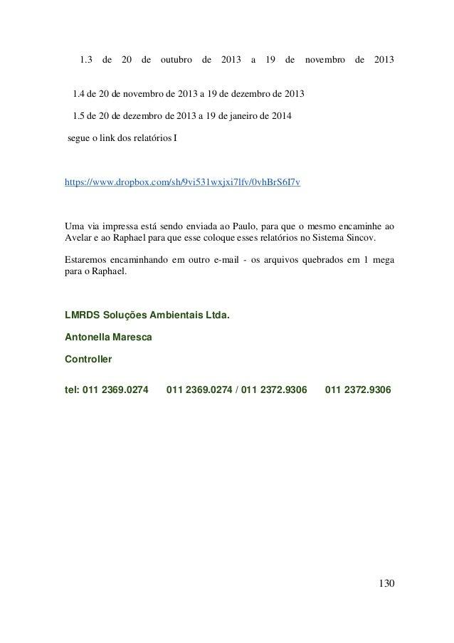 Relatório J - 20.01.2014 a 19.02.2014