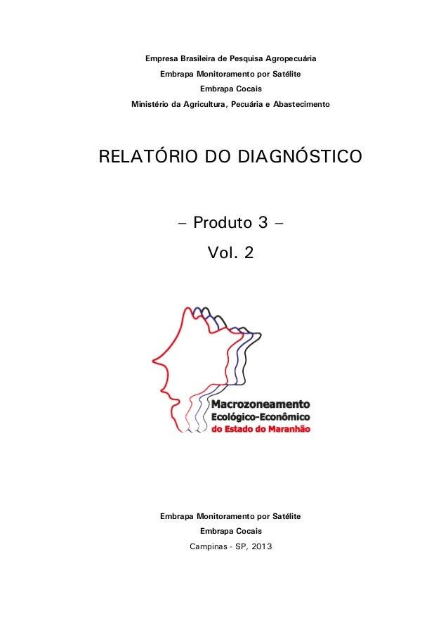 Empresa Brasileira de Pesquisa Agropecuária Embrapa Monitoramento por Satélite Embrapa Cocais Ministério da Agricultura, P...