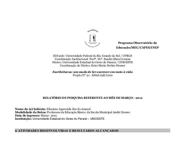 Programa Observatório da                                                                         Educação/MEC/CAPES/INEP  ...