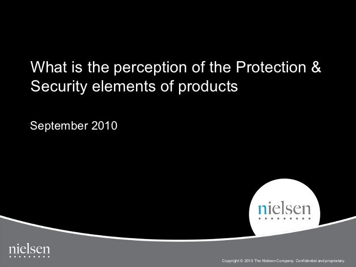 What is the perception of the Protection &Security elements of productsSeptember 2010                                     ...