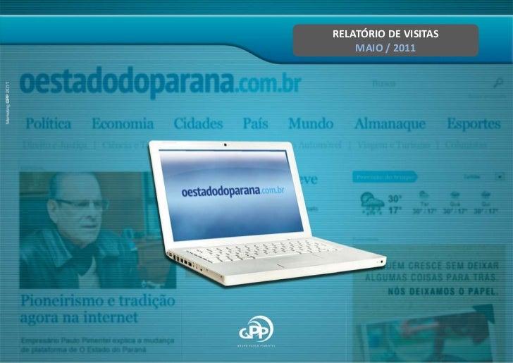 RELATÓRIO DE VISITAS<br />MAIO / 2011<br />
