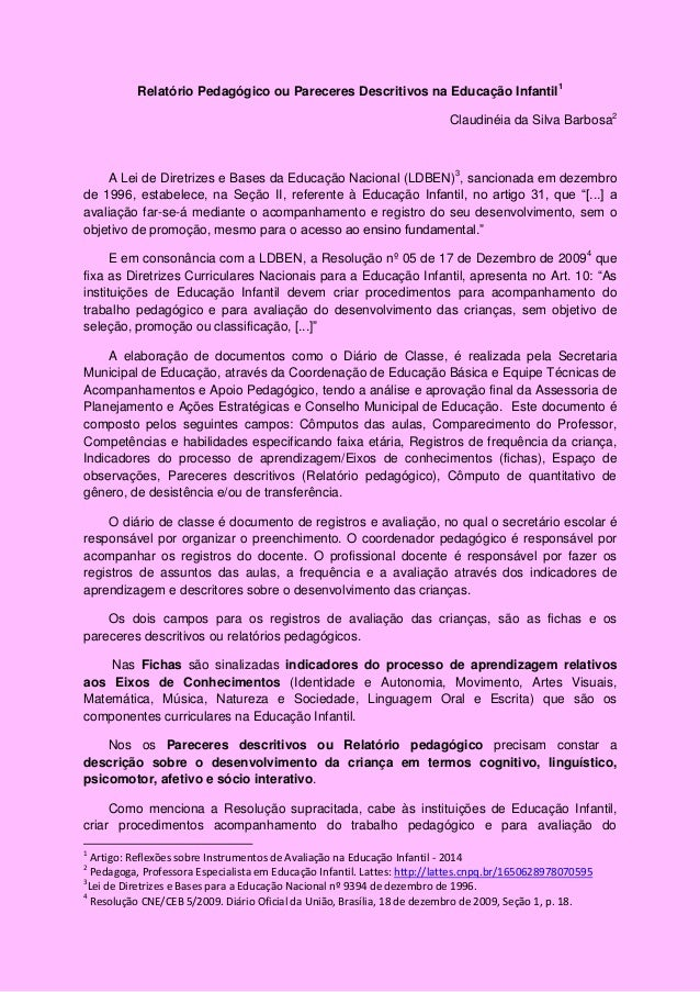 Well-known Relatorio individual educacao infantil primeiro semestre  EU82