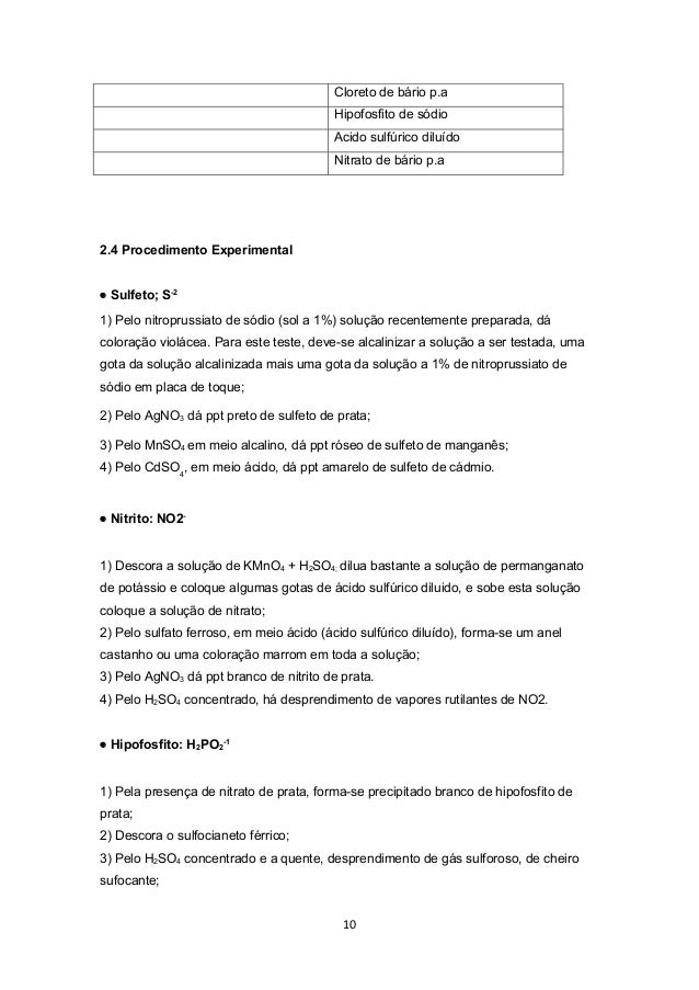 Cloreto de bário p.a                                         Hipofosfito de sódio                                         ...