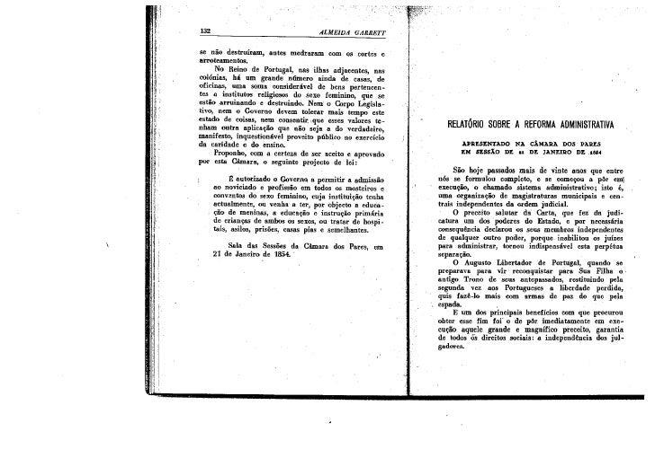RelatóRio Sobre A Reforma Administrativa