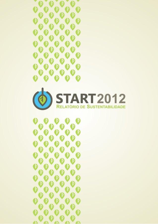 Relatório de Sustentabilidade do Evento Start 2012