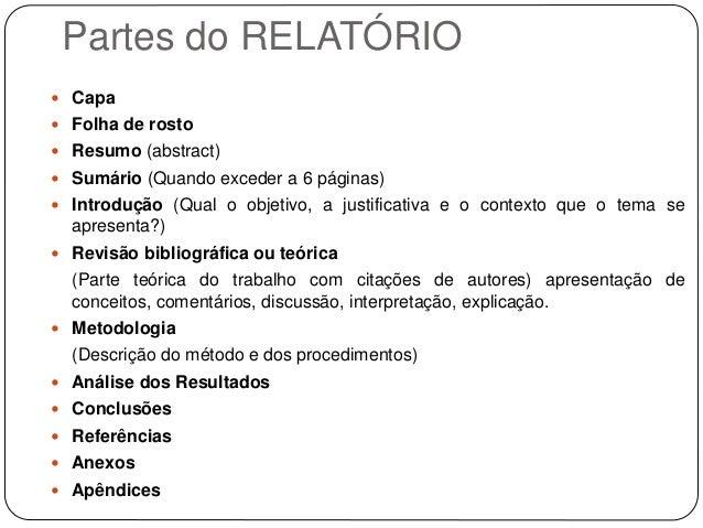 Exemplo de introdução de relatorio cientifico