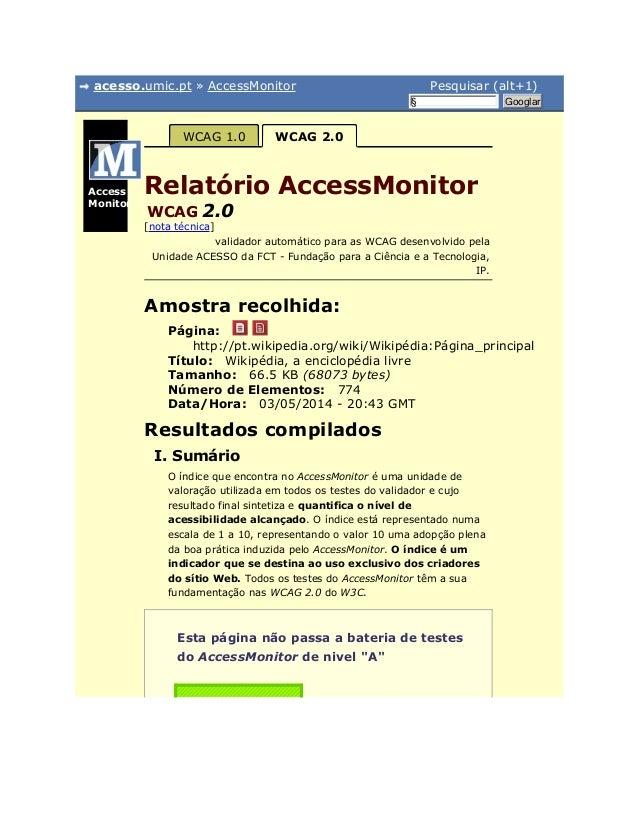 acesso.umic.pt » AccessMonitor Pesquisar (alt+1) § Googlar Página: Título: Tamanho: Número de Elementos: Data/Hora: Access...