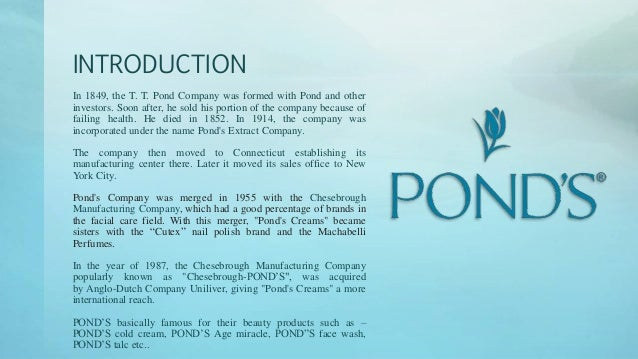 Relaunch strategy of pond 39 s toothpaste for Pond maintenance companies