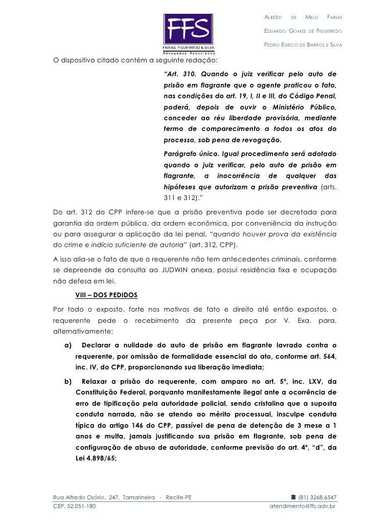 Relaxamento De Prisão Modelo Monografia November 2019 Ajuda