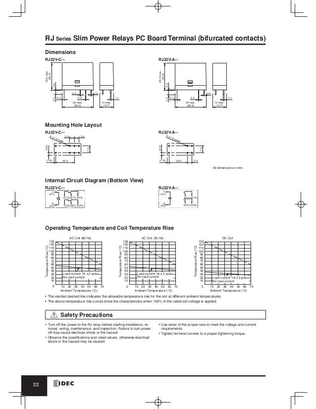 Relay Base Wiring Diagram : Pin dpdt relay wiring diagram on idec socket