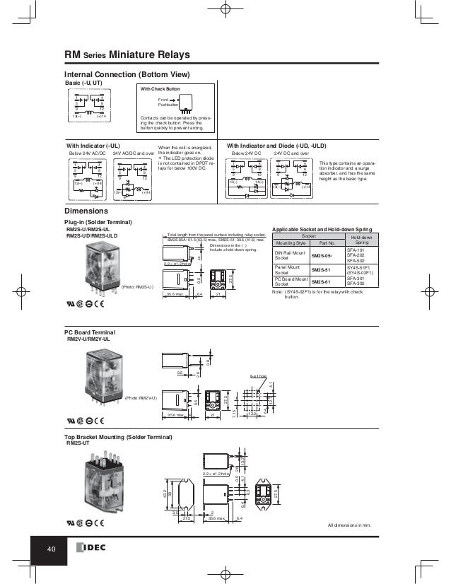 catalog relay idec www haophuong com rh slideshare net 8 Pin Relay Wiring Diagram idec 11 pin relay wiring diagram