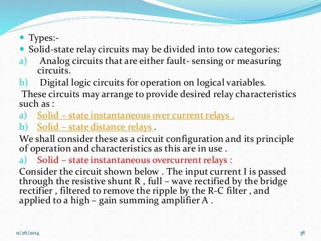 Relay operation principles