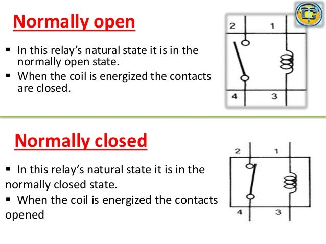 relay rh slideshare net normally open relay wiring diagram 11 Pin Relay Schematic