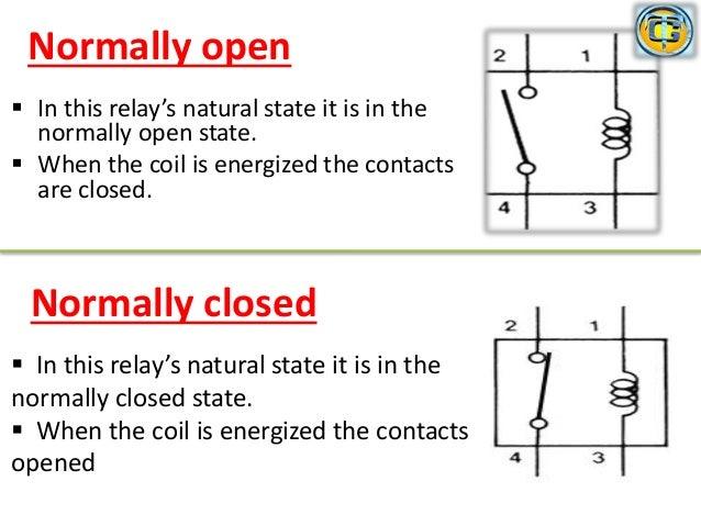 relay rh slideshare net Normally Closed Push Button Circuit Normally Closed Push Button Circuit