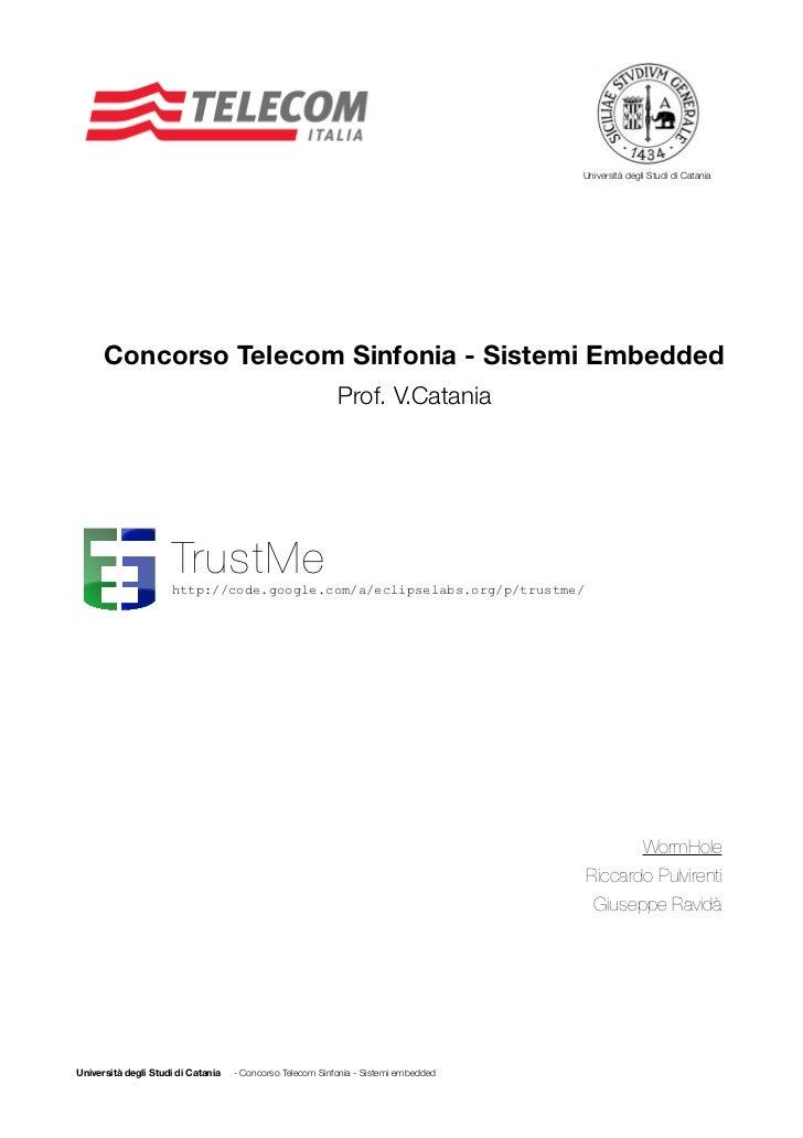 Università degli Studi di Catania      Concorso Telecom Sinfonia - Sistemi Embedded                                       ...