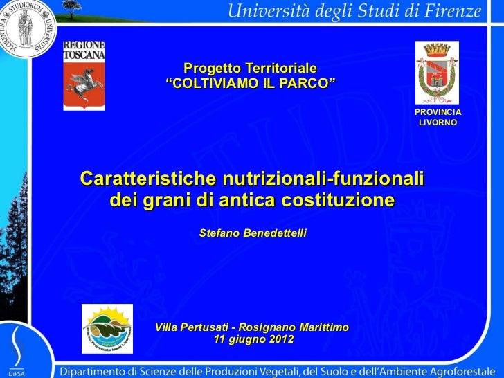 """Progetto Territoriale          """"COLTIVIAMO IL PARCO""""                                                PROVINCIA             ..."""