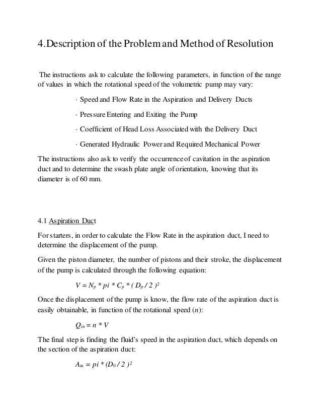 Rudder Control Analysis Hydraulic Pump Analysis 7 4. Job Essay Sample  Teaching Cover Letter