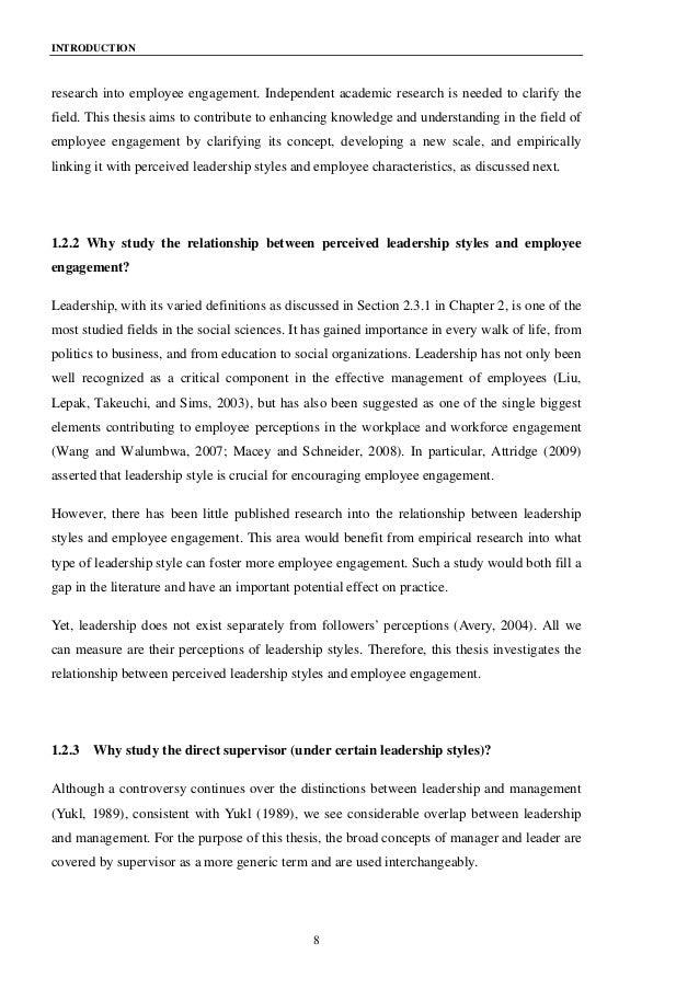 Employee engagement dissertation pdf