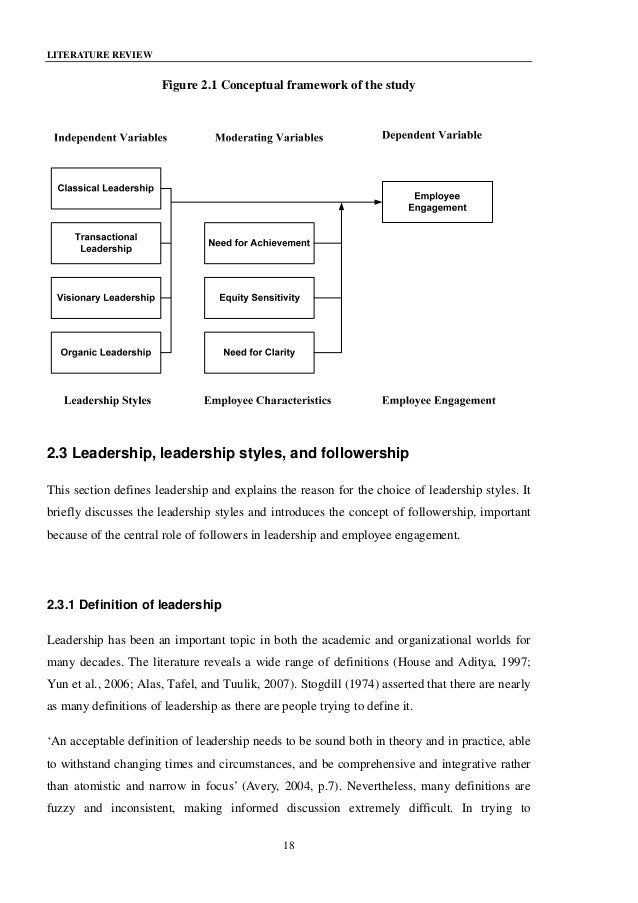 Literature review on leadership style and employee performance