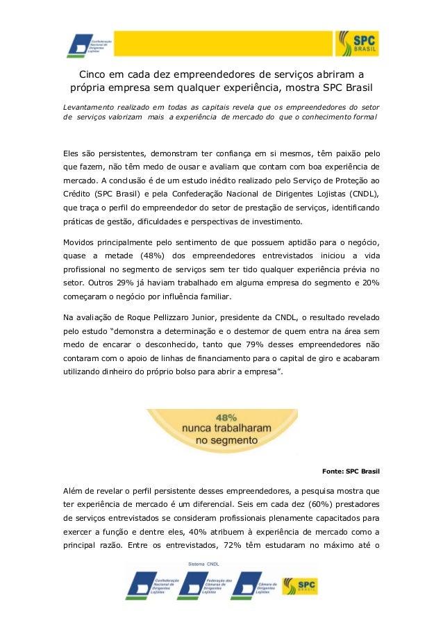 Cinco em cada dez empreendedores de serviços abriram a própria empresa sem qualquer experiência, mostra SPC Brasil Levanta...