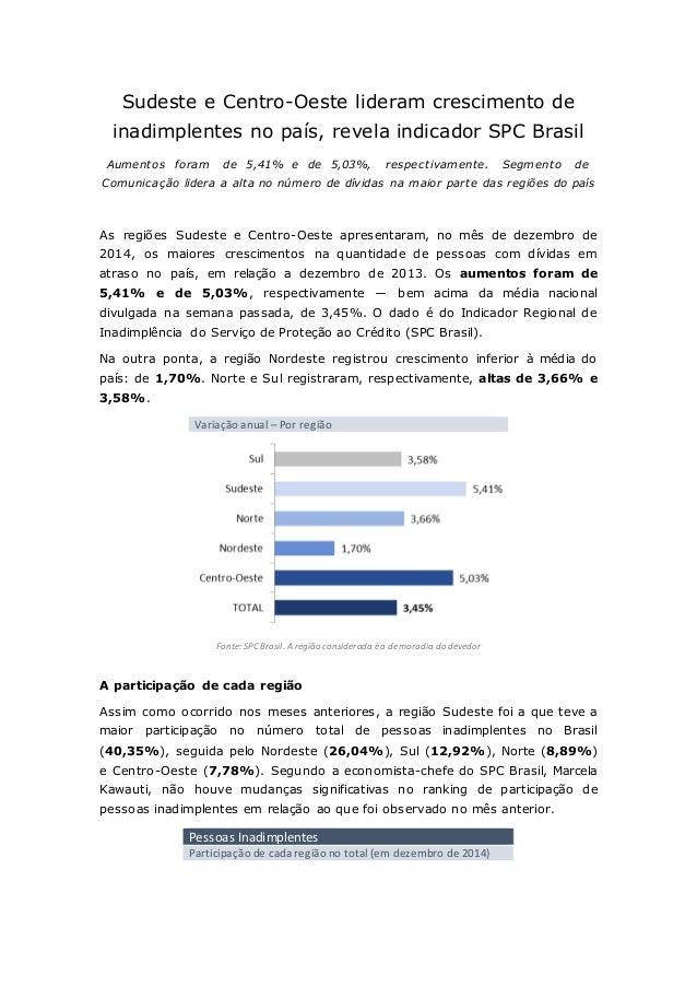 Sudeste e Centro-Oeste lideram crescimento de inadimplentes no país, revela indicador SPC Brasil Aumentos foram de 5,41% e...