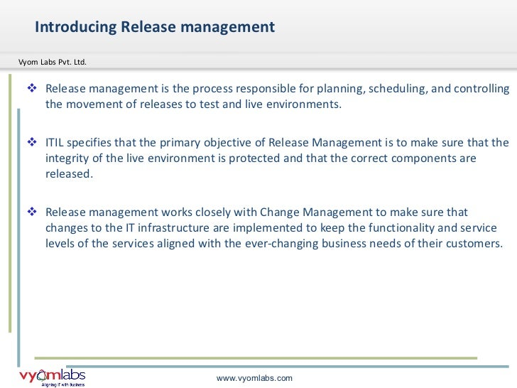 Release management for Itil release management plan template