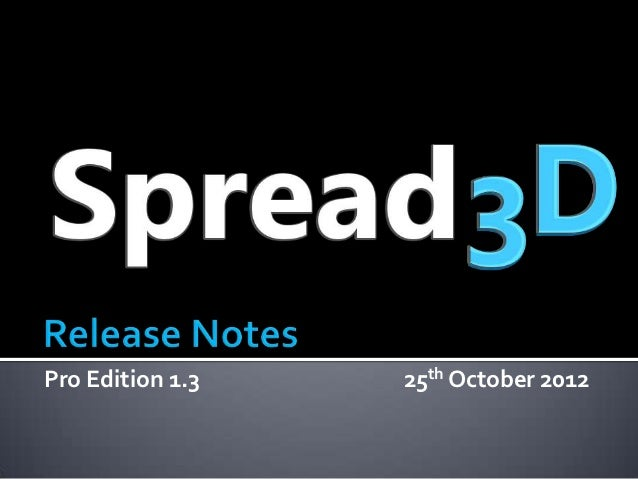 Pro Edition 1.3   25th October 2012