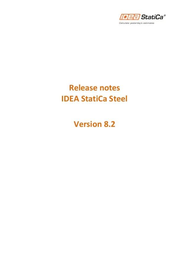 Release notes IDEA StatiCa Steel Version 8.2