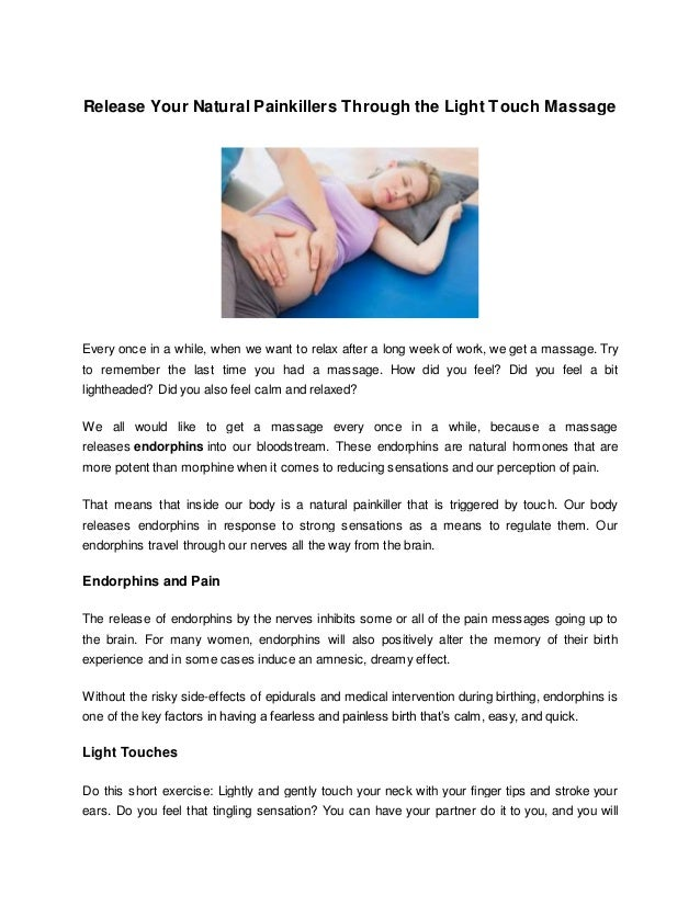 Captivating Release Your Natural Painkillers Through The Light Touch Massage Every Once  In A While, ... Great Ideas