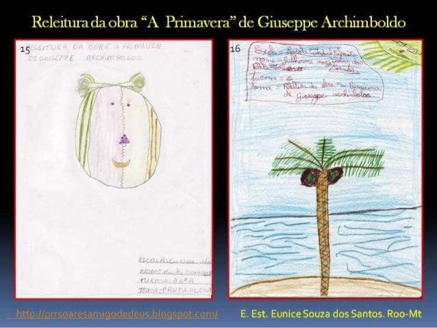 """Releitura, da obra  """"A Primavera"""" de Giuseppe Archimboldo"""