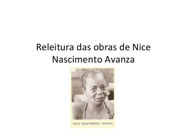 Releitura das obras de Nice Nascimento Avanza