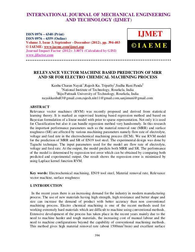 INTERNATIONAL Mechanical Engineering and Technology (IJMET), ISSN 0976 – International Journal of JOURNAL OF MECHANICAL EN...