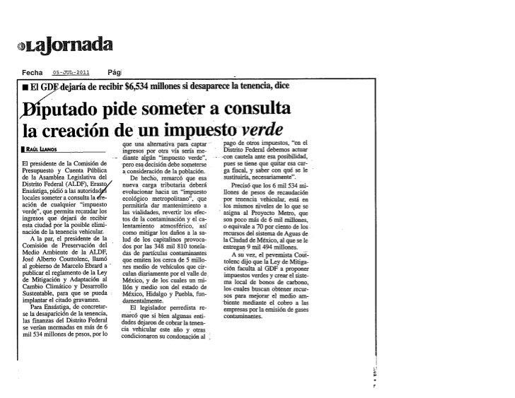 La Jornada: Llaman atención a la PGJ por revelar datos                                        Página 1 de 2Llaman atención...