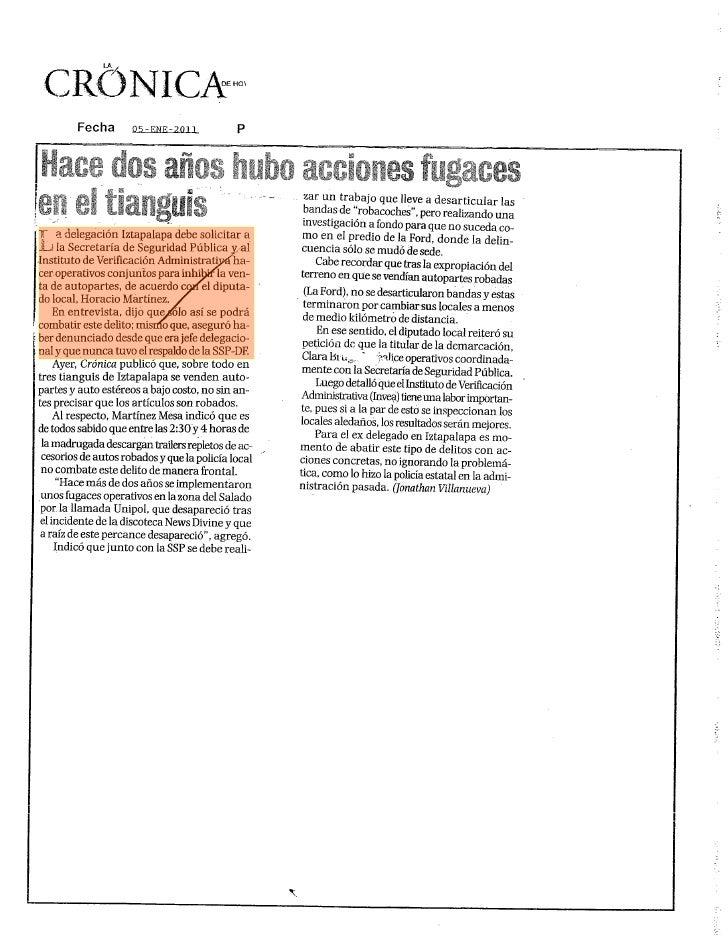 La Jornada: El GDF apuesta por la mentira, afirma el Frente Amplio contra la supervía ... Página 1 de 3  Intentó justifica...