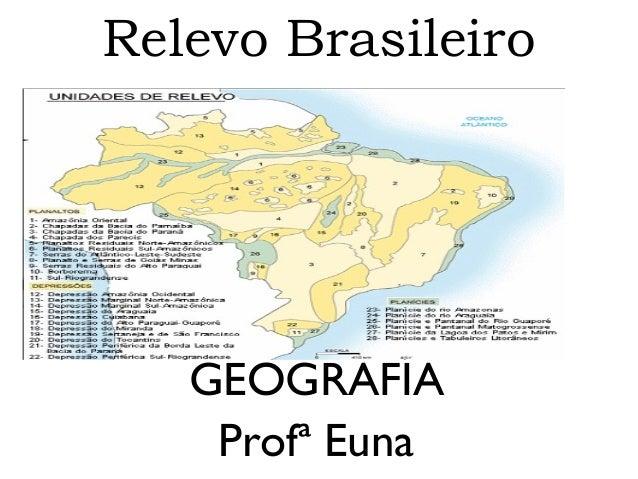 Relevo Brasileiro  GEOGRAFIA Profª Euna