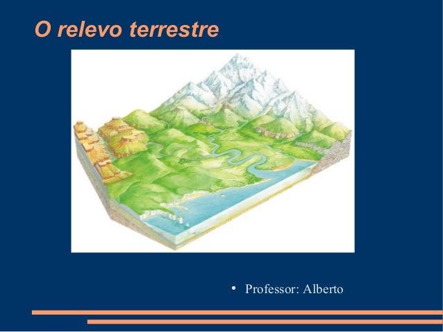 O relevo terrestre ● Professor: Alberto