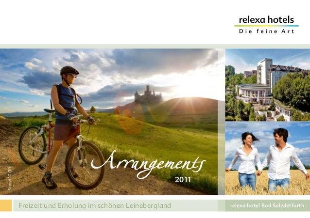 relexa hotel Bad Salzdetfurth Stand10/10 Freizeit und Erholung im schönen Leinebergland Arrangements2011