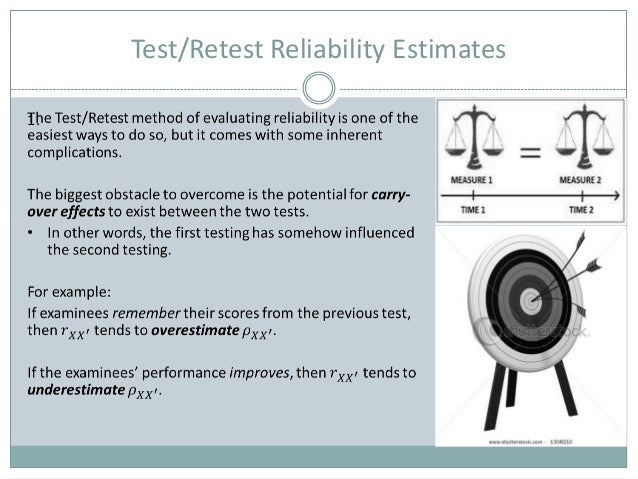 Test Retest Reliability - an overview | ScienceDirect Topics
