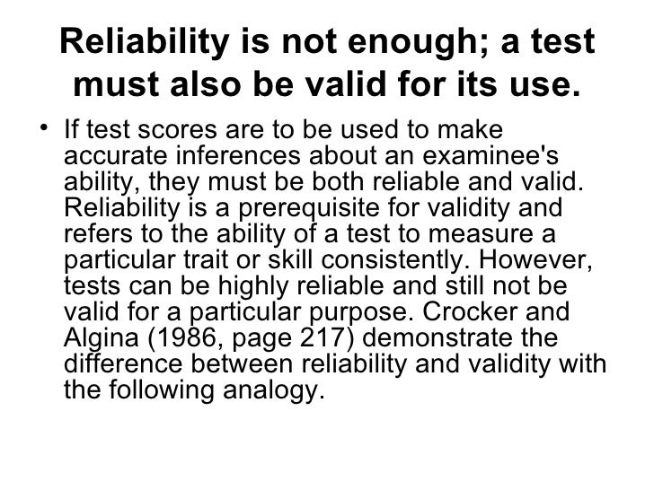 assess the validity essay Linking classroom assessment with student learning  what we assess,  • validity reflects the extent to.
