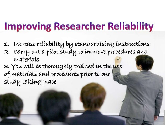 reliability and validity in research methodology