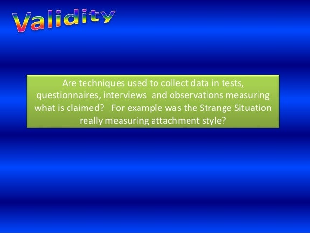 """A"""" Research Methods Reliability and validity Slide 2"""