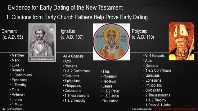 early dating of the gospels Acts shows mark can be dated in the 50s, and the undisputed early dating of other books confirms that the jesus of the gospels was not.