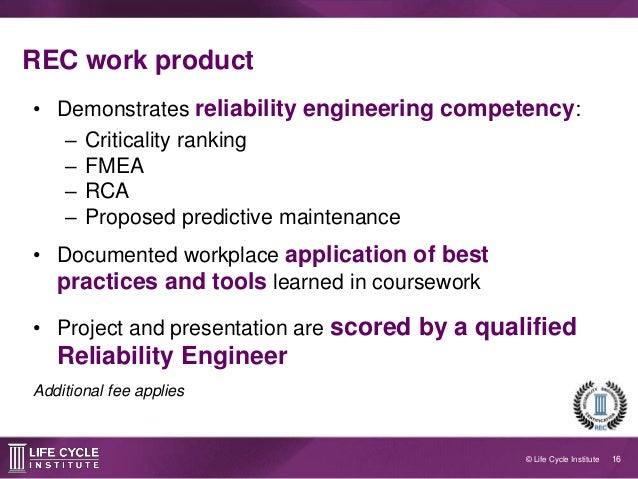 reliability engineer additional fee applies 16 certified reliability engineer
