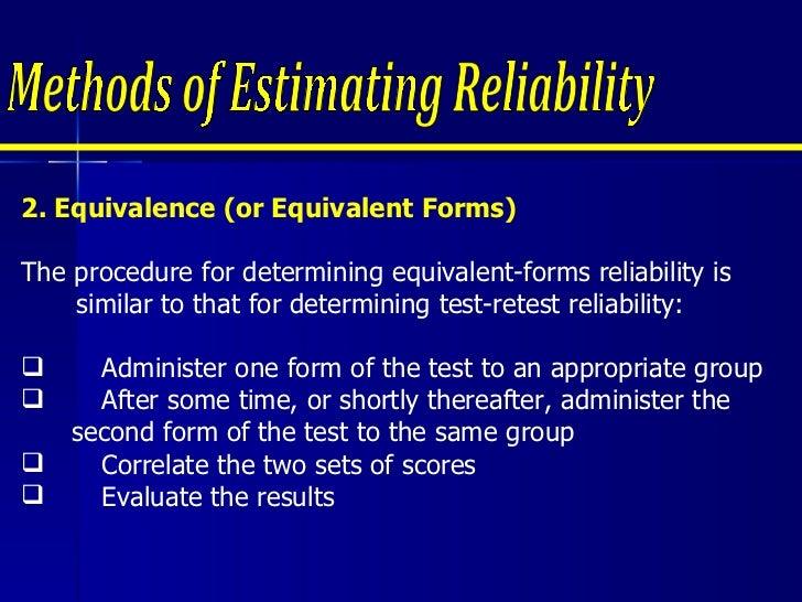 Louzel Report - Reliability & validity