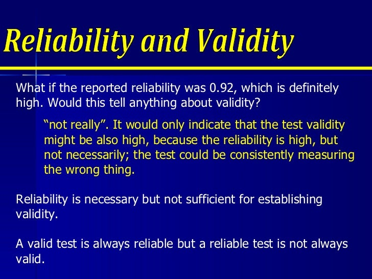 ensuring reliability and validity for essay questions Topics a formative vs  however, you should be aware of the basic tenets of validity and reliability as you construct your classroom assessments,.